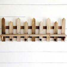 Wooden Picket Fence Wall Shelf Picket Fence Wooden Fence Fence Decor