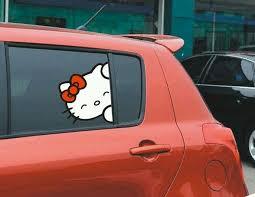Cute Hello Kitty Car Decals Lovely Kitty Car Window Decals For Girl 10 Hello Kitty Car Car Decals Vinyl Custom Car Stickers