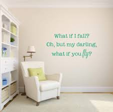 Amazon Com Ditooms What If I Fall Oh But My Darling What If You Fly Vinyl Wall Decal Inspirational Vinyl Wall Decal What If You Fly Vinyl Decal Home Kitchen