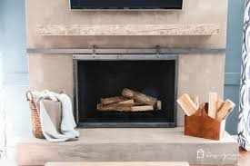 diy concrete fireplace for less than