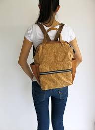 15 cork vegan backpack diaper bag