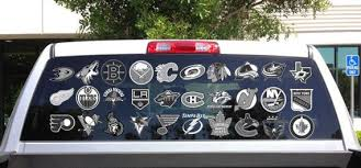 Nhl All Logo Decals Car Window Vinyl Decal Sticker All Teams Available Devious Decals And Apparel