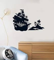 Vinyl Wall Decal Pirate Ship Island Boys Kids Room Creative Decoration Wallstickers4you