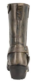 distressed brown motorcycle boots