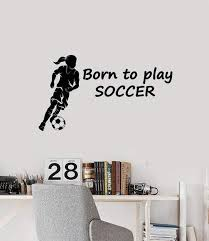 Vinyl Wall Decal Soccer Teen Girl Quote Sports Decoration Room Art Sti Wallstickers4you
