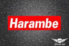 Harambe Gang Vinyl Decal White Sticker For Sale Online Ebay
