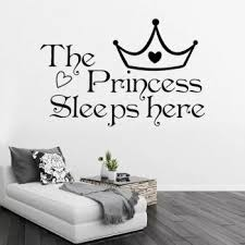 The Princess Sleeps Here Wall Say Quote Word Buy Wall Stickers At Factory Price Club Factory
