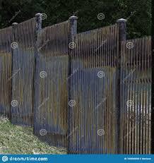Colorful Rusted Slat Iron Fence Stock Photo Image Of Fence Rusted 163566098