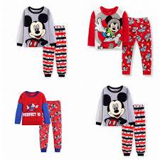 Set đồ bộ dài tay in hình chuột Mickey dễ thương cho bé trai giảm ...