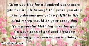 you live for a hundred sweet birthday quote