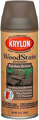 Krylon K03607000 Wood Stain Earthen Brown Spray Stain Spray Paints Amazon Com