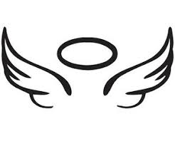 Angel Wing Halo Vinyl Car Decal In Memory Rip Glass 5 X 2 25 Sticker Ebay