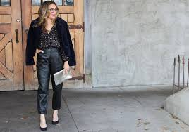 how to style leather pants for work
