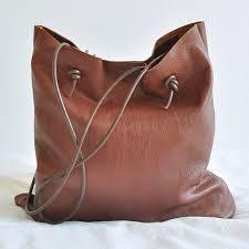 craft ideas make a leather shoulder bag