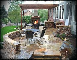 brick slate patio backyard ideas lovely