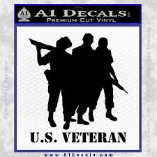 Military Veteran Vinyl Decal Sticker Computer Truck Car Army Marines Air Force Decals Emblems License Frames Graphics Decals Parts Accessories Car Truck Parts