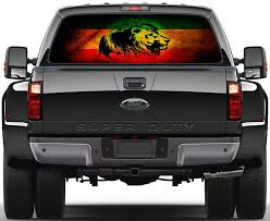 Lion Of Judah Rasta Flag Car Rear Window See Through Net Decal Decalz Co