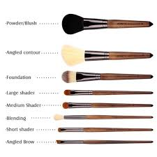 makeup brush types with pictures
