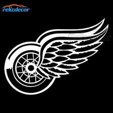 Detroit Red Wings Die Cut Vinyl Car Decal Car Truck Windshield Bumper Sticker Waterproof Modern Art Car Decor Black White L169 Car Stickers Aliexpress