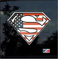 Superman Flag Full Color Decal Sticker Custom Sticker Shop