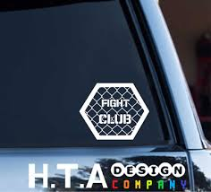 Vinyl Decal Sticker Oval Fight Club Car Decal Sticker V0004 Ebay