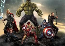 ᐂcustom Wall Decor The Avengers Poster Hulk Thor Wallpaper Iron Man Captain America Wall Sticker Office Mural Marvel Decals U615 A69