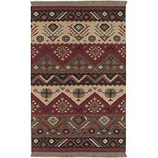 ln 5x8 red green southwest aztec area