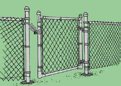 Dixon Home Building Centre Installing Chain Link Fencing