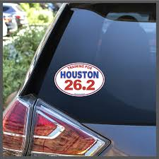 Training For Houston 26 2 Marathon Decal Or Car Magnet