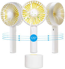Amazon Com Mini Handheld Personal Fan Portable Rotate Usb Fan Battery Powered Electric Fan Rechargeable Small For Woman Men Kids Office Room Outdoor Travel Desk Table Computer Furniture Decor