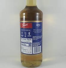 apple flavored 750ml torani syrup