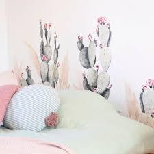 Boho Cactus Wall Stickers For Happy Homes Warm Boho Wall Decor Made Of Sundays