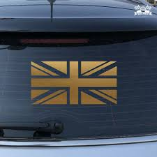 Uk British Flag Union Jack Britain Car Sticker Gold Vinyl Decal 2 6 16 Ebay