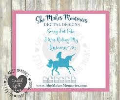 Unicorn Svg Sorry I M Late I Was Riding My Unicorn Digital Design Cut File Yeti Decal Cuttable Silhouette Cricut Pdf Printable By Crafted By A Country Girl Digital Designs Catch My