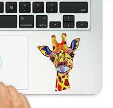 Amazon Com Decal Sticker Pros Giraffe Colorful Decal Compatible With All Apple Macbook Pro Retina And Air Models Arts Crafts Sewing