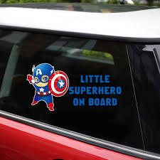 Car Stickers Reflective Superhero Baby On Board Stickers And Decals Car Styling Body Window Vinyl Accessories Stickers For Car Car Stickers Aliexpress