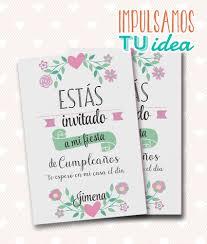Cumple Nena Invitacion Con Flores Para Imprimir