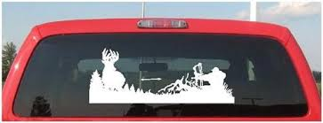 Hunter Taking A Nice Whitetail Deer Hunting Window Decal Whitetail Hunter