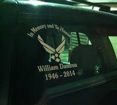 Air Force Veteran Memorial Air Force Memorial Memorial Decals Air Force Veteran
