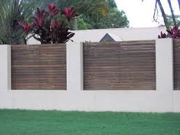 Brisbane Rendered Block With Timber Insets Fence Design Brick Fence Privacy Fences