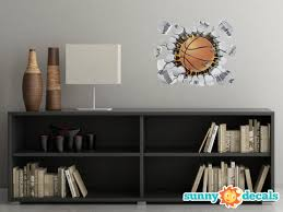 Basketball Fabric Wall Decal 3d Wall Decor Sunny Decals