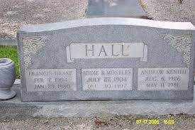 Addie Belle Moseley Hall (1904-1997) - Find A Grave Memorial
