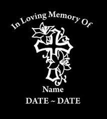 Cross Roses In Loving Memory Window Decal Sticker Custom Sticker Shop