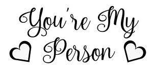 You Re My Person Greys Anatomy Vinyl Decal Sticker Heart Ebay