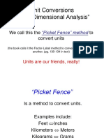 Picket Fence Ppt Notes Units Of Measurement Scientific Observation