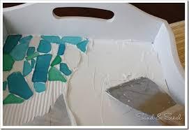 sea glass mosaic tray mosaic tray