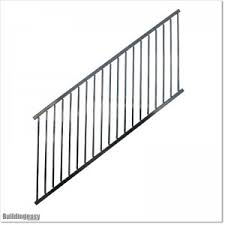 Aluminium Staircase Black Fence With Adjustable Angle Upto 45 Degrees