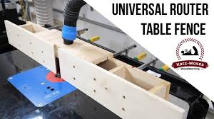 Universal Router Table Fence Youtube
