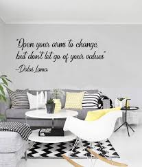 Open Your Arms To Change Quote Wall Decal Egraphicstore