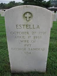 Estella Sanders (1891-1958) - Find A Grave Memorial